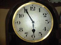 art deco granfather clock