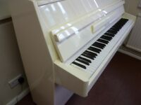 Upright Piano Rogers in Stunning White (FREE LOCAL DELIVERY TN12 KENT) Tuned to Concert Pitch 440