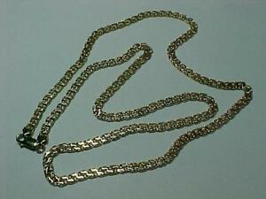 "#5000- STUNNING 14K YELLOW Gold  NECKLACE/CHAIN 24"" LONG 17.9 Gms-LOBSTER CLAW CLOSURE $795.00 FREE SHIPPING IN CANADA"