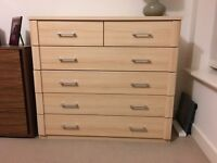 5 Level Wood Chest of Drawers Beech