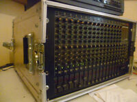 ROLAND M-16E RACK MIXER IN FLIGHTCASE