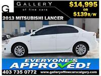 2013 Mitsubishi Lancer SE $139 bi-weekly APPLY NOW DRIVE NOW