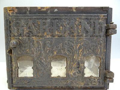 Garland 1887 Woodstove Center Column Part Antique Black Cast Iron Mica Windows