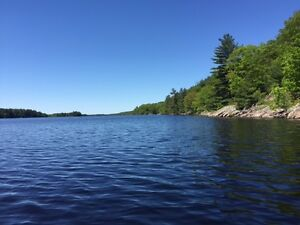 Cottage with 412 ft of waterfront and 43 acres for sale