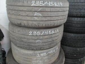235/45 R19 WINTER TIRES CONTINENTAL PRO USED SNOW TIRES (SET OF 3) - APPROX. 85% TREAD