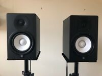 Yamaha HS7 Active Studio Monitors (Pair) with Stands and Cables