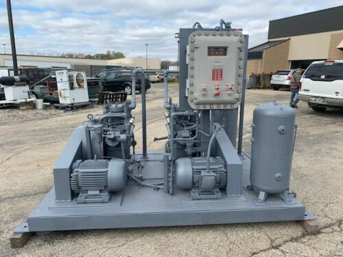 CNG COMPRESSOR ANGI TWIN PACK 40 CFM Great Condition