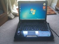 Toshiba satellite laptop, Dual Core processor, 3 gb RAM, 160 HDD, can deliver