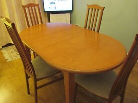 Dining Table with extending leaves