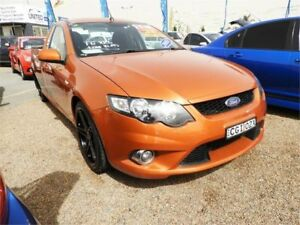 2011 Ford Falcon FG MkII XR6 Super Cab EcoLPi Orange 6 Speed Sports Automatic Cab Chassis