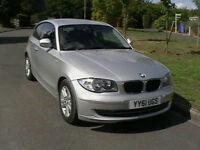 61 REG BMW 118 2.0 SE AUTOMATIC 3 DOOR HATCHBACK IN METALLIC SILVER LOW MILEAGE