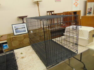 3 PET CRATES AND CARRIER LIKE NEW