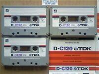 JL CHEAPEST ONLINE 3x RARE TDK D 120 D120 CASSETTE TAPES 1979-1981 W/ CARDS CASES LABELS ALL VGC