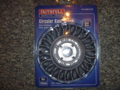Faithfull Wbct125 Circular Wire Brush 125 X 12 X 22.2Mm / 0.50Mm Wire