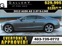 2012 Audi A5 S-LINE QUATTRO $199 bi-weekly APPLY NOW DRIVE NOW