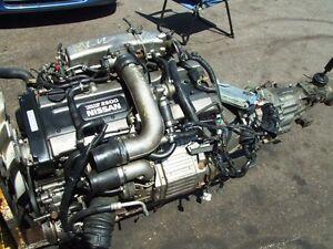 JDM NISSAN RB25DET TURBO MOTOR 2.5L WITH RWD MT TRANSMISSION ECU
