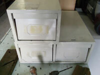 Vintage Industrial Small filing Cabinets