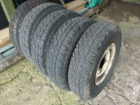 """Land Rover 16"""" Wheels & Tyres x 5"""