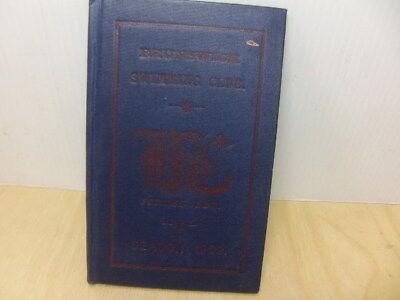 Brunswick Swimming Club Camberwell Membership Fixtures Booklet Season 1909