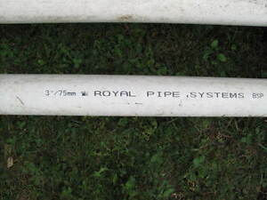 PVC 3 inches x 10 feet long sewer pipe
