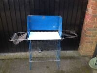 Camp Kitchen, 3 tiered metal with wind guard, and 2 side racks. used with bag