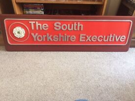 Train Name Plate - South Yorkshire Executive