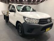 2015 Toyota Hilux TGN121R WORKMATE 4X2 White Manual CAB CHASSIS SINGLE CAB Fyshwick South Canberra Preview