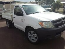 2007 Toyota Hilux TGN16R Workmate White 5 Speed Manual Cab Chassis Winnellie Darwin City Preview