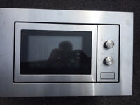 Built in microwave in stainless steel finish, brand new