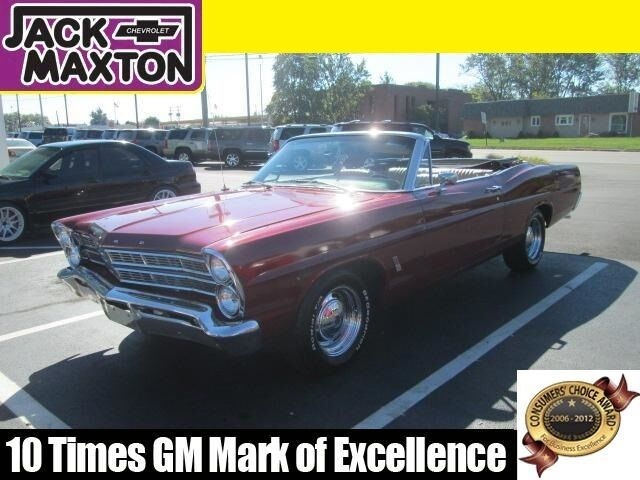 Ford : Galaxie Convertible 67 MAROON FORD GALAXIE CONVERTIBLE