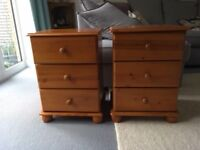 Two Pine Bedside Tables