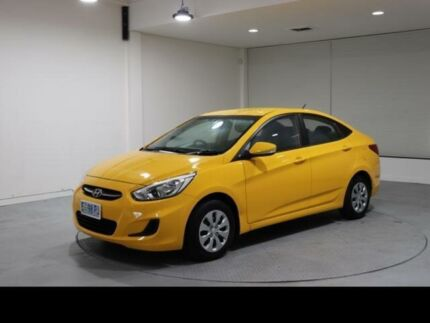 2015 Hyundai Accent RB2 MY15 Active Yellow 4 Speed Automatic Sedan Invermay Launceston Area Preview