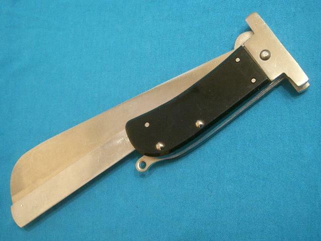NM VINTAGE JAPAN VIETNAM PILOTS FOLDING BOLO MACHETE JUNGLE SURVIVAL BOWIE KNIFE