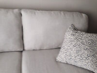 Oatmeal Beige Couch High End Fabric One Month Old