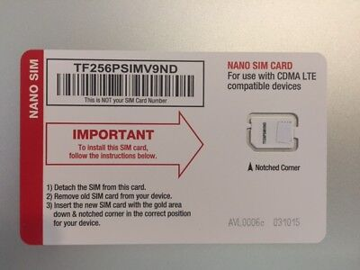 NET10 4G LTE NANO SIM CARD / VERIZON WIRELESS NETWORK