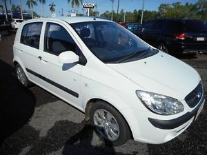 2009 Hyundai Getz TB MY09 SX White 5 Speed Manual Hatchback Winnellie Darwin City Preview