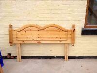 Pine headboard for sale
