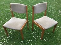 Dining chairs x 4, upholstered