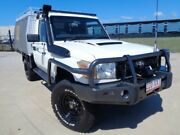 2010 Toyota Landcruiser VDJ79R MY10 Workmate French Vanilla 5 Speed Manual Cab Chassis Garbutt Townsville City Preview