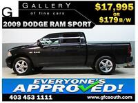 2009 DODGE RAM SPORT CREW **EVERYONE APPROVED** $0 DOWN $179/BW!