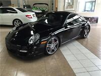 2008 PORSCHE 911 TURBO*6SPD MANUAL*NAVI*MOON*BLACK ON BLACK
