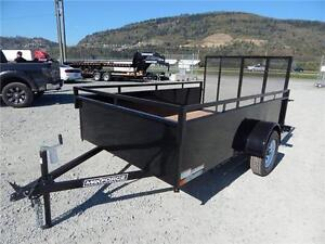 NEW 6'x10' LANDSCAPE STEEL SIDE UTILITY TRAILER RAMP GATE 2990LB