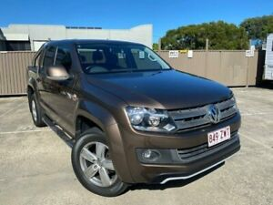 2013 Volkswagen Amarok 2H MY13 TDI420 Ultimate (4x4) Brown 8 Speed Automatic Dual Cab Utility