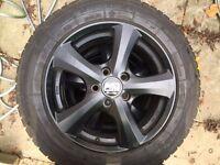 4 x MSW Alloys (Black) + Winter tyres(NK Snow) - 5 X 114.3 - 205/60/16