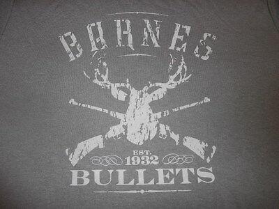 Barnes Bullets T Shirt NWOT Reloading T-shirt Target Shooting Deer Hunting -