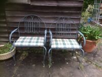 Pair iron chairs restoration project?