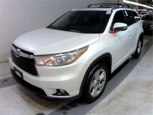 2016 Toyota Highlander Limited_ Pearl White_ Black_ Pano Rroof