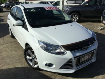 2013 Ford Focus LW MKII Trend PwrShift White 6 Speed Sports Automatic Dual Clutch Hatchback Currimundi Caloundra Area Preview