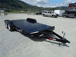 NEW 18' 10,000lb STEEL DECK CAR FLATDECK TRAILER