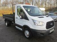 Ford Transit T350 2.2 Tdci 125Ps S/Cab Tipper DIESEL MANUAL WHITE (2014)